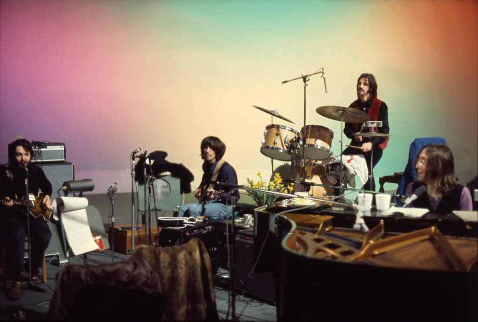 The Beatles at Twickenham Film Studios, January 1969 (photo: Linda McCartney)