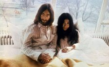 John Lennon and Yoko Ono at the first bed-in for peace at the Amsterdam Hilton, March 1969