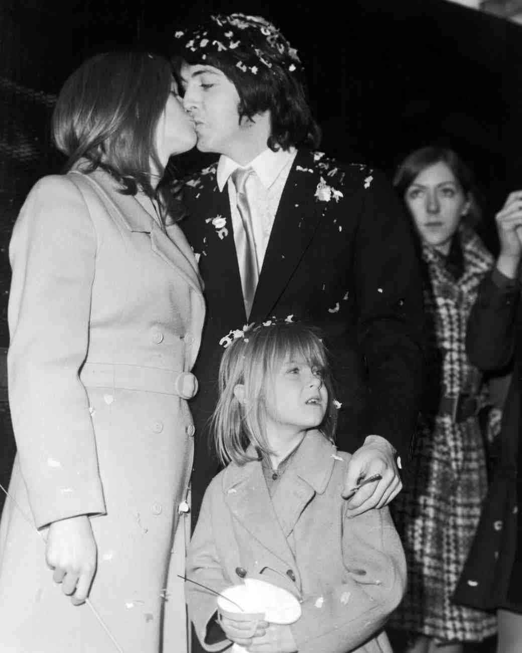 Paul And Linda McCartney On Their Wedding Day 12 March 1969