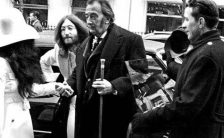 John Lennon and Yoko Ono with Salvador Dali, 24 March 1969