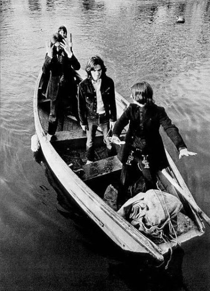 The Beatles on the Thames, London, 9 April 1969