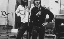 George Harrison and Ringo Starr recording Octopus's Garden, 17 July 1969