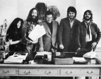 Yoko Ono, John Lennon, Allen Klein, Paul McCartney and Ringo Starr at Apple, 3 Savile Row, 20 September 1969