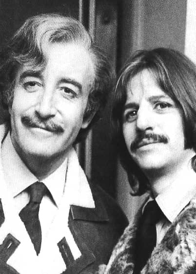 Peter Sellers and Ringo Starr, 1969