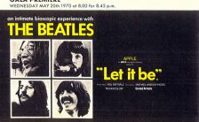 Ticket for the Liverpool premiere of The Beatles' film Let It Be, 20 May 1970