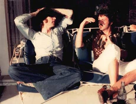 John Lennon And Paul McCartney 1974