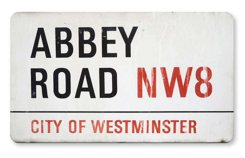 Abbey Road street sign, 2021