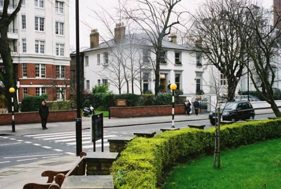Abbey Road Studios and zebra crossing