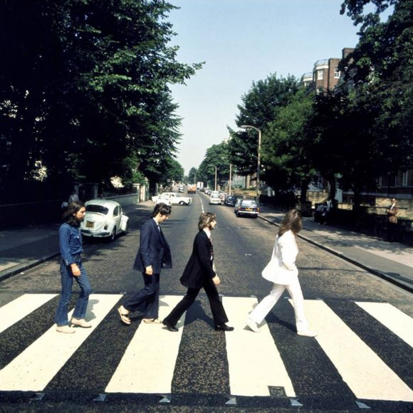 Picture one from the Abbey Road photography session (photo: Iain Macmillan)