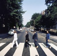 Picture two from the Abbey Road photography session (photo: Iain Macmillan)