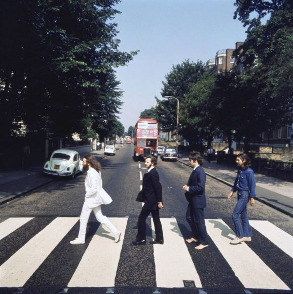 Picture four from the Abbey Road photography session (photo: Iain Macmillan)