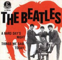 A Hard Day's Night single artwork – Austria