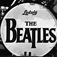 The Beatles' drop T logo