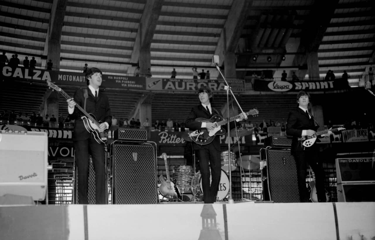 The Beatles On Stage In Genoa Italy 26 June 1965