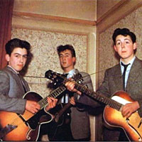 George Harrison, John Lennon and Paul McCartney, 1957