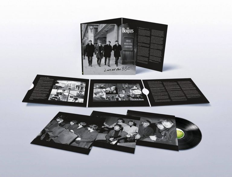 "The Beatles' <em>Live At The BBC</em> on vinyl (2013 version)"" width=""768″ height=""584″ class=""aligncenter size-medium_large wp-image-32697″ /></a></p><p>Show 12 had an equally varied mix of songs. Eight songs were recorded: <a href="