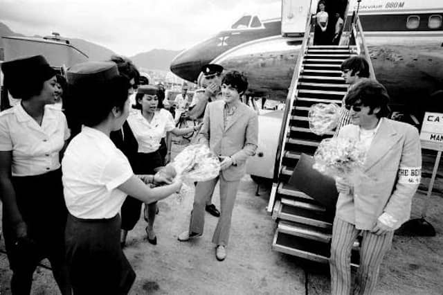 The Beatles arrive in Manila, Philippines, 3 July 1966