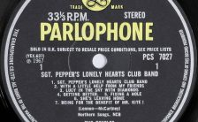 Label for The Beatles' Sgt Pepper's Lonely Hearts Club Band, side A