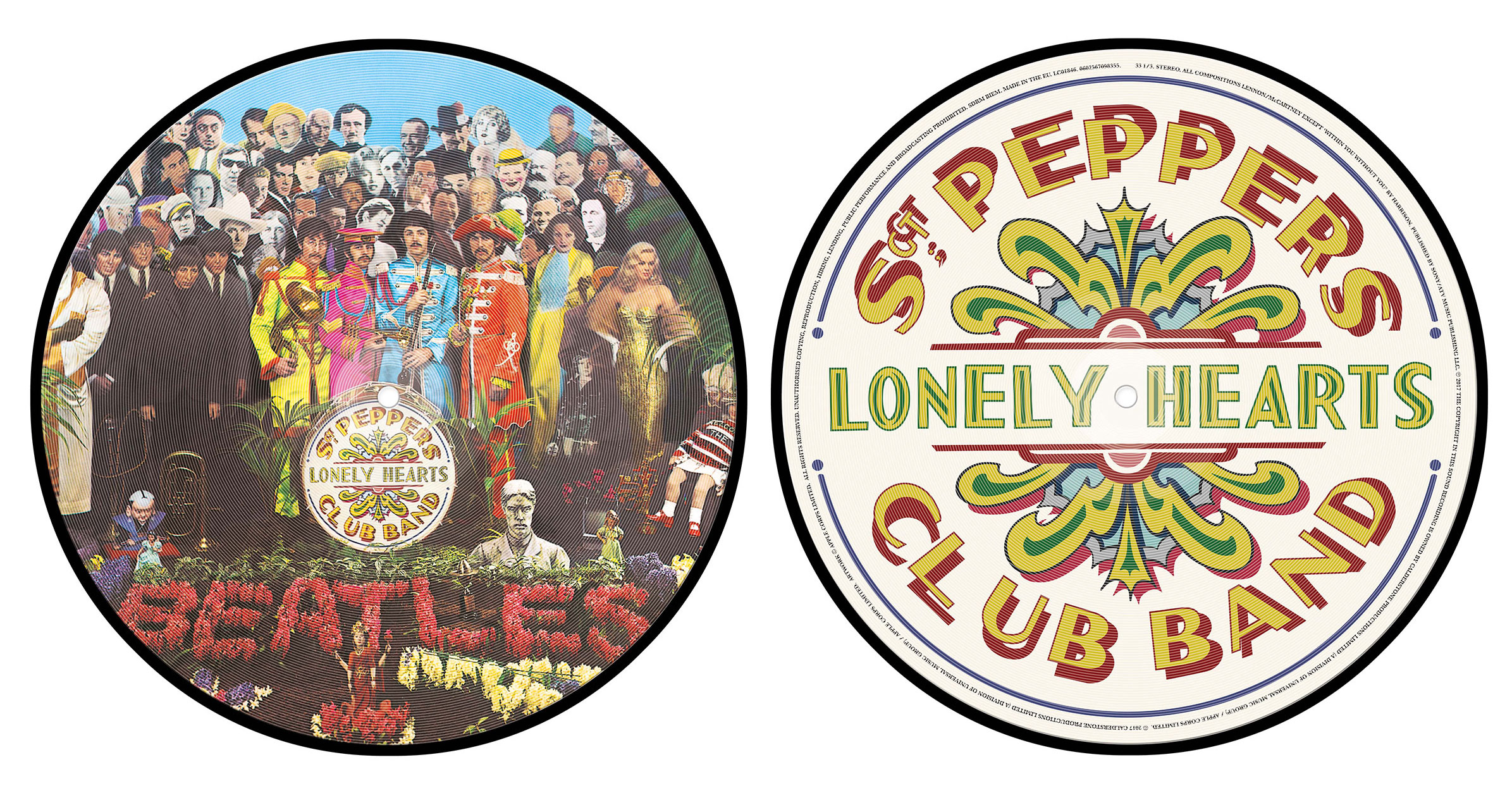 The Beatles Sgt Pepper Vinyl Picture Disc 2017 The