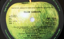 The Beatles' Yellow Submarine soundtrack album label (a-side)