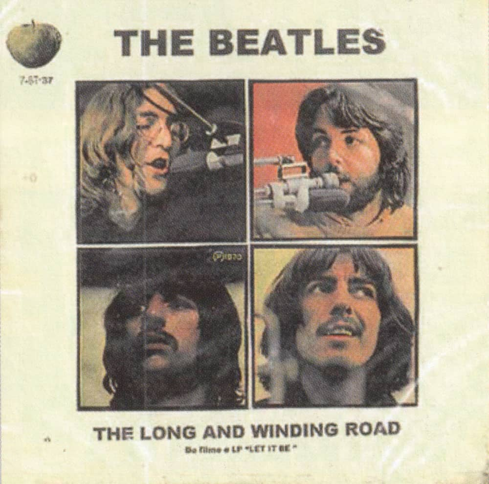 The Long And Winding Road single artwork - Brazil
