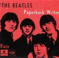 Paperback Writer single artwork – Denmark, Norway