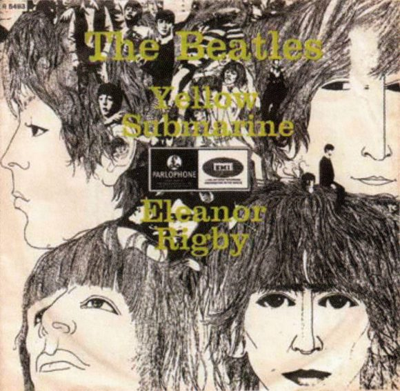 Yellow Submarine/Eleanor Rigby single artwork - Denmark