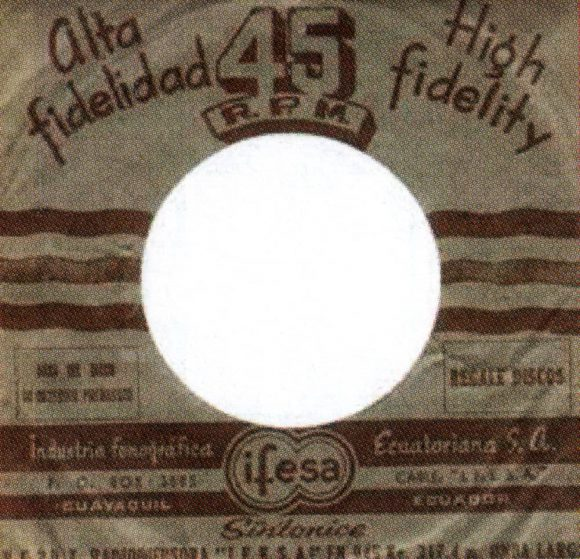 Odeon single sleeve - Ecuador