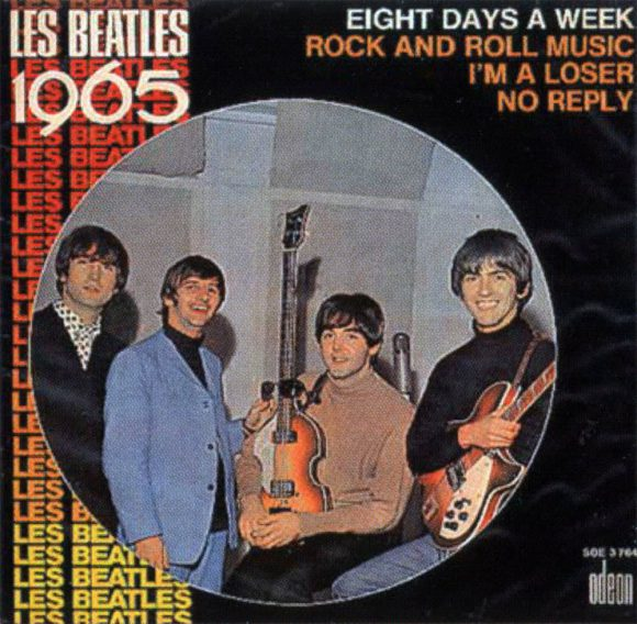 Les Beatles 1965 EP artwork - France