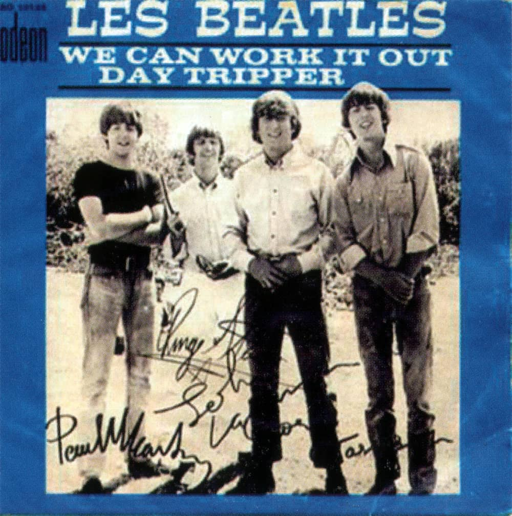 We Can Work It Out/Day Tripper single artwork - France
