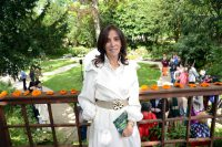 Olivia Harrison at the George Harrison memorial garden public opening, 25 May 2013