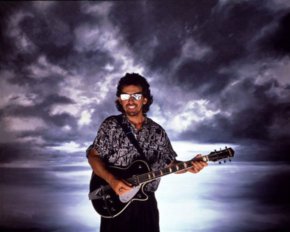 George Harrison cover shoot for Cloud Nine, 1987