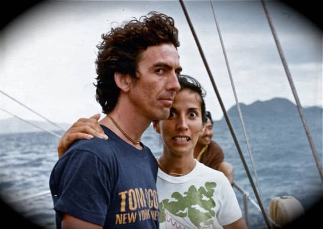 George And Olivia Harrison In The Bahamas 1970s 169 Neil