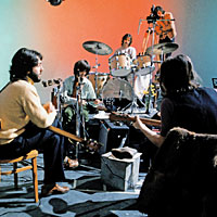 The Beatles during the Get Back/Let It Be sessions, January 1969
