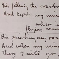 Paul McCartney's handwritten lyrics of Fixing A Hole