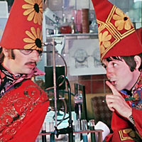 Ringo Starr and Paul McCartney in Magical Mystery Tour