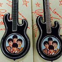 Beatles guitar brooches