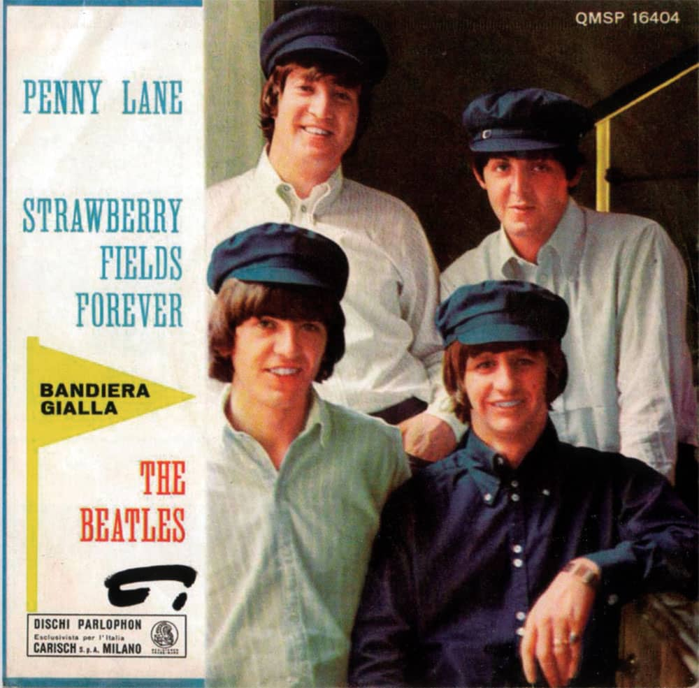 Penny Lane/Strawberry Fields Forever single artwork - Italy