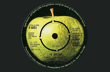 Label of John Lennon's #9 Dream single