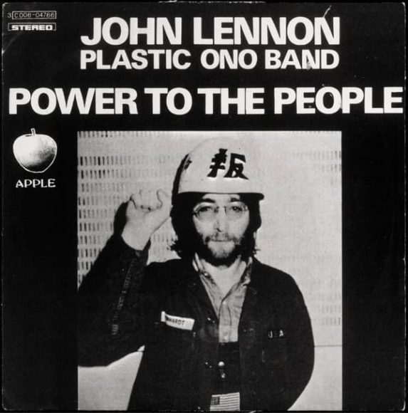 Power To The People single artwork - John Lennon/Plastic Ono Band