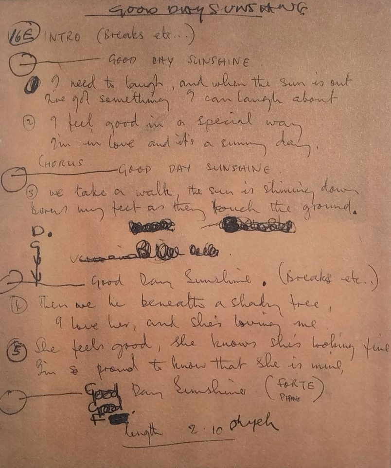 8 June 1966: Recording, editing: Good Day Sunshine, And Your Bird ...