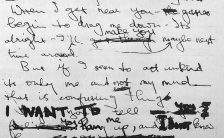 George Harrison's lyrics for I Want To Tell You, 1966