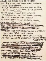 John Lennon's draft lyrics for In My Life