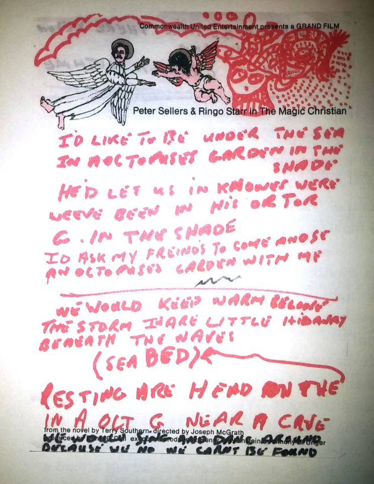 Ringo Starr's lyrics for Octopus's Garden