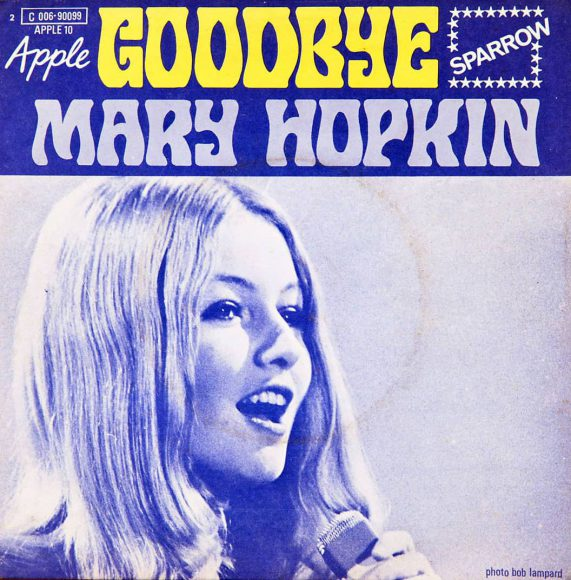 Cover of Mary Hopkin's single Goodbye (French release)