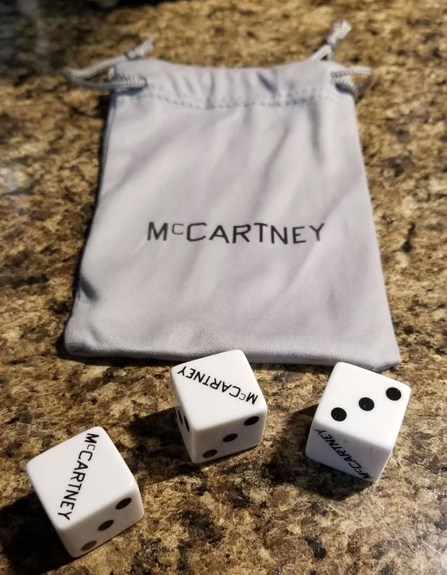 McCartney III dice bag