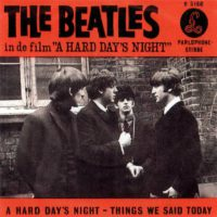 A Hard Day's Night single artwork - Netherlands