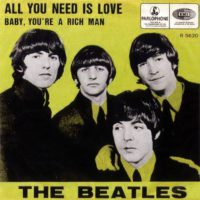 All You Need Is Love single artwork – Belgium, Netherlands
