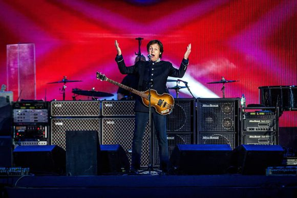 Paul McCartney performing at the Queen's diamond jubilee, 4 June 2012