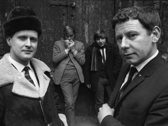 Ray McFall and Bob Wooler outside the Cavern Club, Liverpool, 1964